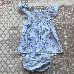 Mud Pie NWOT baby girls floral smocked dress